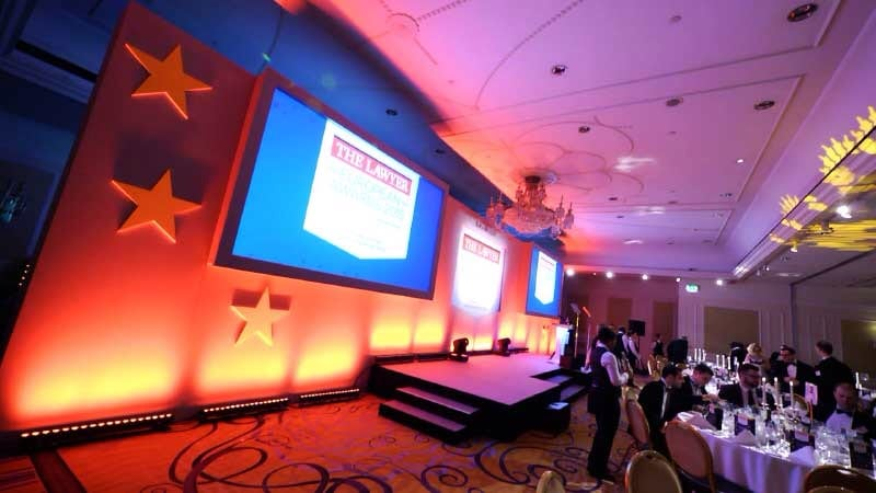 Filming at euro lawyers awards london.