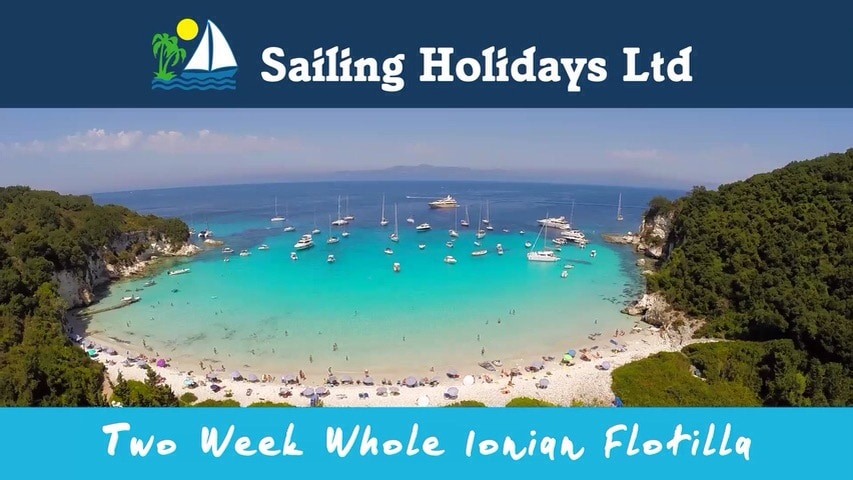 Sailing holidays whole Ionian flotilla promo going online today