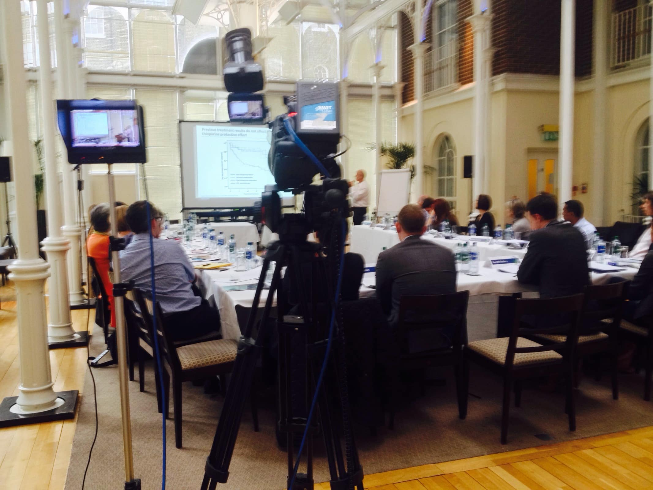 Filming abbvie medical conference london